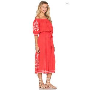 "Tularosa ""Marty"" off-the-shoulder peasant dress"